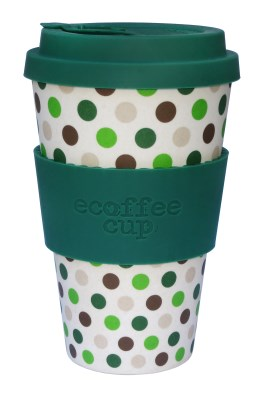 Ecoffee Cup To Go Becher GREEN POLKA (400 ml)