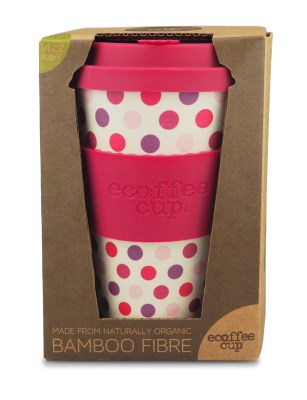 Ecoffee Cup To Go Becher PINK POLKA (400 ml)